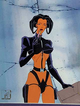 Aeon Flux Animation Cel