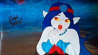 Blackwolf's Queen Bakshi Wizards Animation Cel