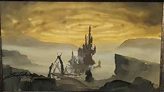 Pre-Production Horned King Castle Disney The Black Cauldron Painting
