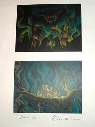 Night on Bald Mountain Chernabog Disney Fantasia Limited Edition Lithograph