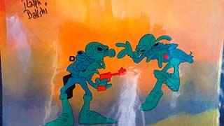 Fritz Bakshi Wizards Animation Cel