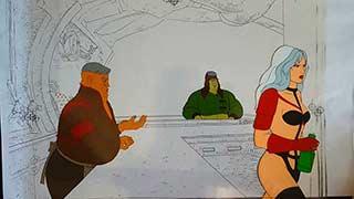 Taarna in the bar01 Heavy Metal Animation Cel