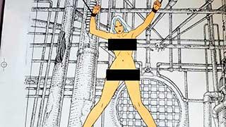 Taarna on the Rack03 Heavy Metal Animation Cel