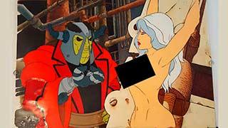 Taarna on the Rack Heavy Metal Animation Cel 01
